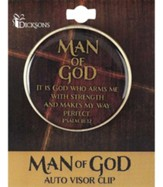 Man of God Visor Clip