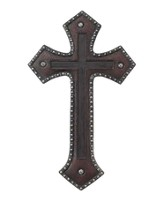 Copper Wall Cross with Brown