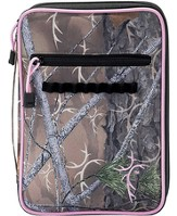 Truth Hunter Bible Cover with Cross Embroidery, Camouflage and Pink, Thinline