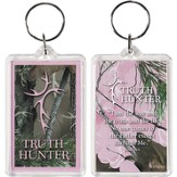Truth Hunter Acrylic Keyring, Pink