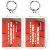 Basketball, I Can Do All Things Through Christ Keyring