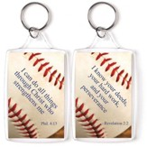 Baseball, I Can Do All Things Through Christ Keyring