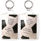 Soccer, I Can Do All Things Through Christ Keyring