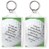 Golf, I Can Do All Things Through Christ Keyring