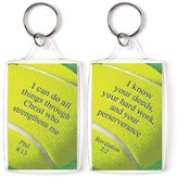 Tennis, I Can Do All Things Through Christ Keyring