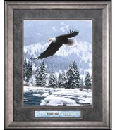 I Carry You On Eagle's Wings Framed Art