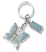 Hope, Butterfly Key Chain, Blue