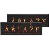 Ablaze Double-sided Tabletop Plaque