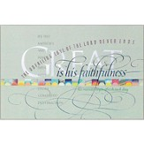 Great Is His Faithfulness Wall Plaque