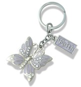 Faith, Butterfly Key Chain, Purple