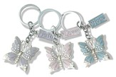 Set of 3 Butterfly Key Chains, Faith, Hope, & Love