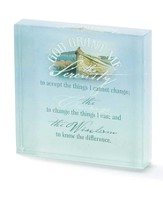 Serenity Prayer Glass Block