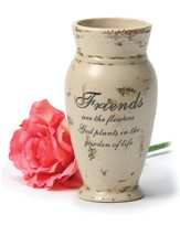 Friends, Crackle Finish Vase  - Slightly Imperfect