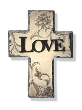 Love Cross with Metal Accent