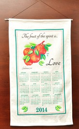 The Fruit Of The Spirit Is Love, 2014 Linen Calendar