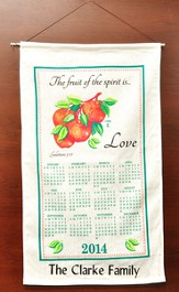Personalized 2014 Linen Calendar, The Fruit Of The Spirit Is Love