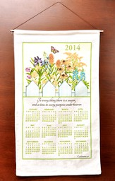 To Every Thing There Is A Season, 2014 Linen Calendar