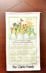 Personalized 2014 Linen Calendar, To Every Thing There Is A Season