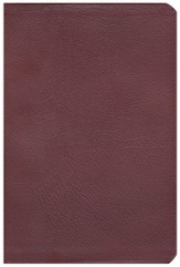 The NASB New Inductive Study Bible, Genuine Leather, Burgundy