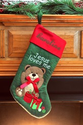 Jesus Loves Me Christmas Stocking
