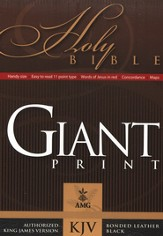 KJV Giant Print Handy Size Bible, Bonded leather, Black