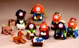 Yarn / Fabric Nativity Set, 10 pieces
