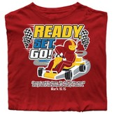 Ready, Set, Go Shirt, Red, Youth Extra Small