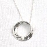 Proverbs 31:30--Sterling Silver Mobius Necklace