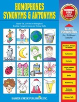 Homonyms, Synonyms, & Antonyms Activity Book