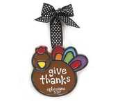 Turkey Ornament, Give Thanks, Small, Ephesians 5:20,