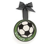 Soccer Ball Ornament, Victory, Small, I Corinthians 15:57