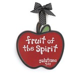 Apple Ornament, Fruit of the Spirit, Large, Galatians 5:22