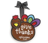 Turkey Ornament, Give Thanks, Large, Ephesians 5:20,