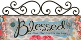 Blessed, Scroll Top Plaque