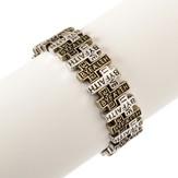 Live By Faith Stretch Bracelet,Silver,Gold