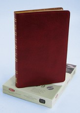 NKJV Ultra Thin Large Print Reference Bible, Genuine leather, Burgundy, Thumb-indexed