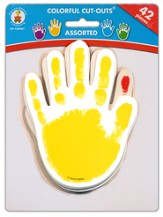 Paper Handprints, Package of 42 (Assorted Colors)