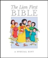 The Lion First Bible--hardcover, white