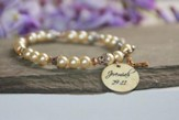 Jeremiah 29:11 Pearl Bracelet with Cross