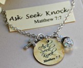 Ask, Seek, Knock Charm Necklace