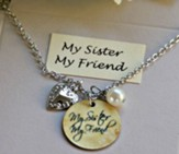 My Sister, My Friend Charm Necklace