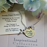 Serenity Prayer Charm Necklace