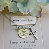 Prayer Changes Things Charm Necklace