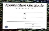 Fishin' on a Mission with Jesus: Appreciation Certificate (20 Pack)