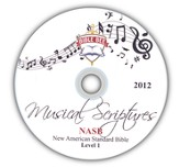 2012 Bible Bee Musical Scriptures Audio CD Set NASB