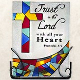 Trust in the Lord Glass Tea Light Holder