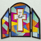 Walk in Faith Glass Decorative Plaque