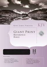 KJV Giant Print Reference Bible, Bonded Leather, Black