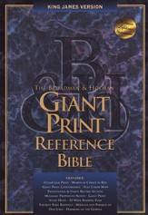KJV Giant Print Reference Bible, Bonded leather, Black,  Thumb-Indexed