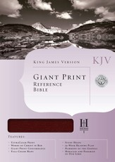 KJV Giant Print Reference Bible, Bonded leather, Burgundy